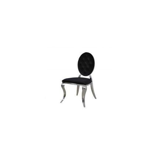 Bellacasa Krzesło ludwik ii glamour black - nowoczesne krzesła pikowane guzikami