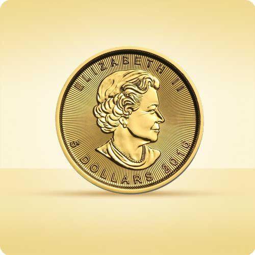 Royal canadian mint Kanadyjski liść klonowy 1/10 uncji złota