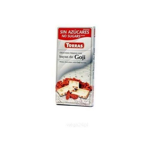 Czekolada biała z jagodami goji 75g Torras
