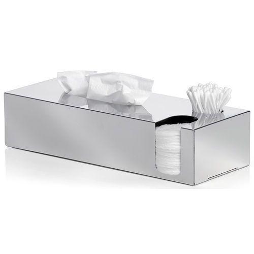 Pojemnik na chusteczki, patyczki i płatki kosmetyczne nexio polerowany (b68690) marki Blomus