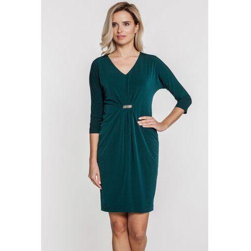 Sukienka w kolorze butelkowej zieleni - Vito Vergelis, 1 rozmiar
