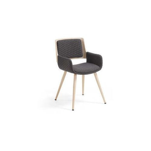 :: krzesło z podłokietnikiem andre ciemnoszare marki Laforma