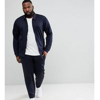 Asos plus retro tracksuit harrington jersey jacket/skinny joggers in navy - navy, Asos design, XXL-XXXXL