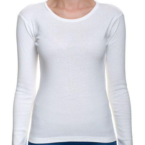 Koszulka Damska koszulka z długim rękawem (bez nadruku, gładka) - czarna