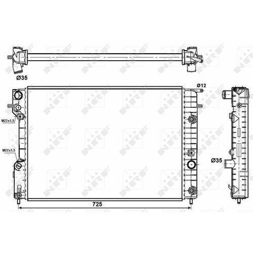 Nrf Chłodnica, układ chłodzenia silnika  519689