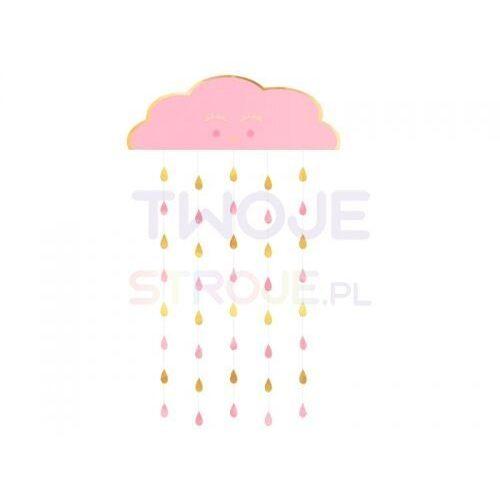Twojestroje.pl Kurtyna chmurka deszczowa papierowa różowo-złota 190,5x96,5cm (0192937022757)