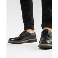 Dune Brogues In Black Leather - Black