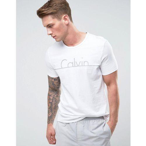Calvin Klein T-Shirt Short Sleeve with Crew Neck in Regular Fit - White