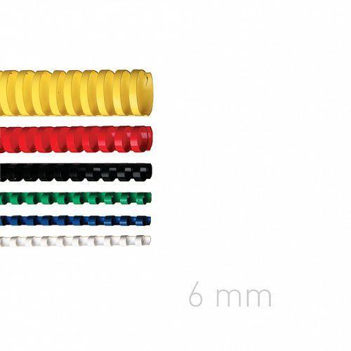 Opus Grzbiety plastikowe o.comb 6mm niebieskie 100szt./op.