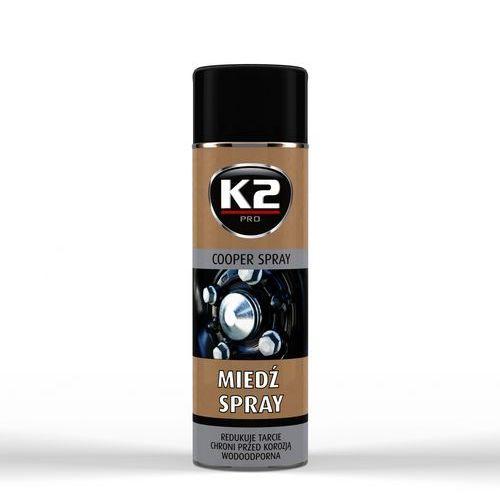 K2 miedź spray 400 ml wysokotemperaturowy, szybkoschnący smar miedziowy. (5906534007735)