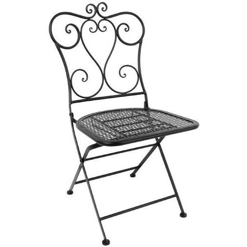 Krzesła składane czarne | 2 szt. marki Bolero