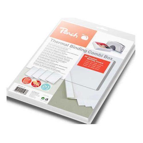 Zestaw okładek do termobindownicy Peach Thermal Binder, białe, 4 x 5 sztuk (do 15/30/40/60 kartek)