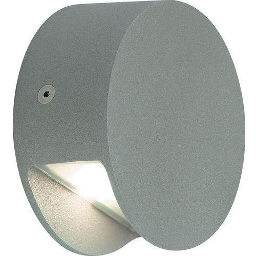 Slv Lampa ścienna led  231012, led wbudowany na stałe, 3000 k, (Øxw) 9 cmx4 cm, srebrno-szary (4024163004589)