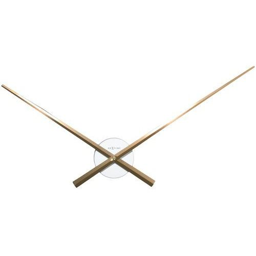 Zegar Nextime Hands 70 cm copper&white, 3118 WC