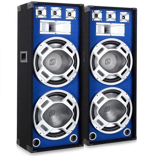para głośnikówpa 38cm 2 x1000w niebieski efekt świetlny marki Skytronic