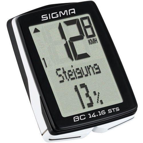 Sigma sport bc 14.16 sts cad licznik rowerowy kabellos czarny liczniki rowerowe