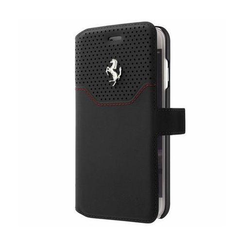 Ferrari  booktype lusso - etui iphone 7 z kieszeniami na karty (czarny) (3700740395301)