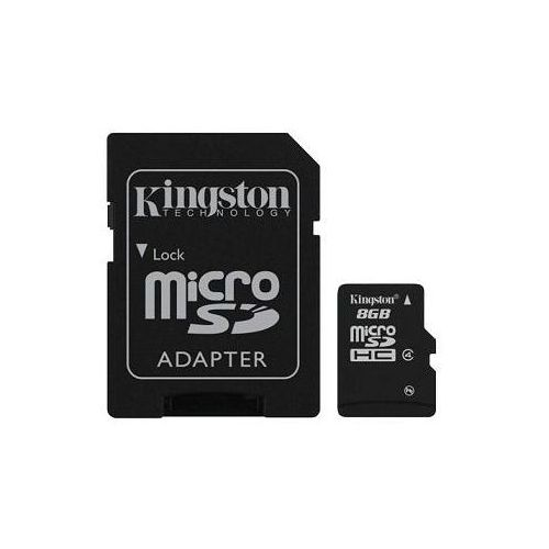 Karta pamięci microsdhc 8gb + adapter sd marki Kingston