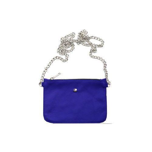 Torebka na łańcuszku kobaltowa, kolor niebieski