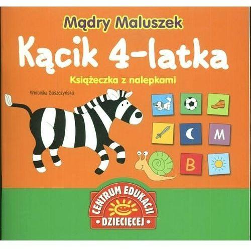 Mądry Maluszek Kącik 4-latka Książeczka z nalepkami, Publicat