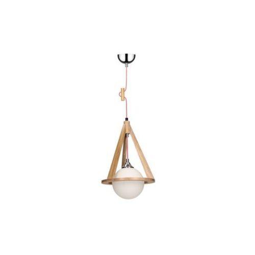 Spot-light  konan lampa wisząca dąb/chrom/czerwono-biały 1xe27-60w 1051570