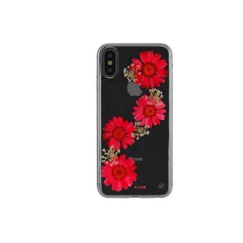 Etui iplate real flower paula do apple iphone x czerwony (31467) marki Flavr