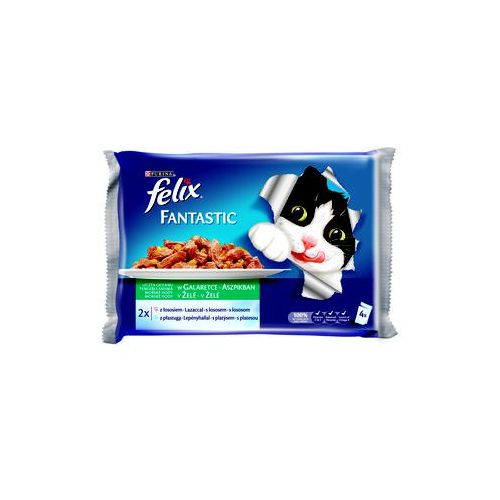 (bez zařazení) Felix fantastic zestaw 4x100g - ryby / cukinia