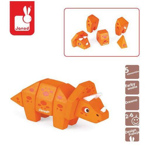 Puzzle XL w walizce Cyferki traktor 12 elementów - zabawki dla dzieci