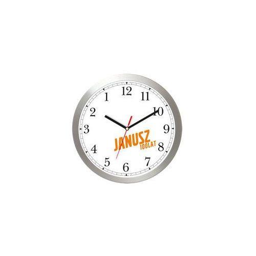 Anty zegar LOGO aluminiowy