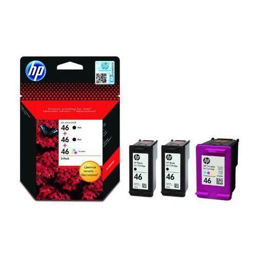 Hewlett packard Oryginalny multipak hp 46 [f6t40ae] 2x black + tricolor