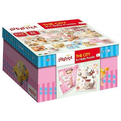 Ludattica puzzle 8+1 baby puzzle the city 32 marki Lisciani
