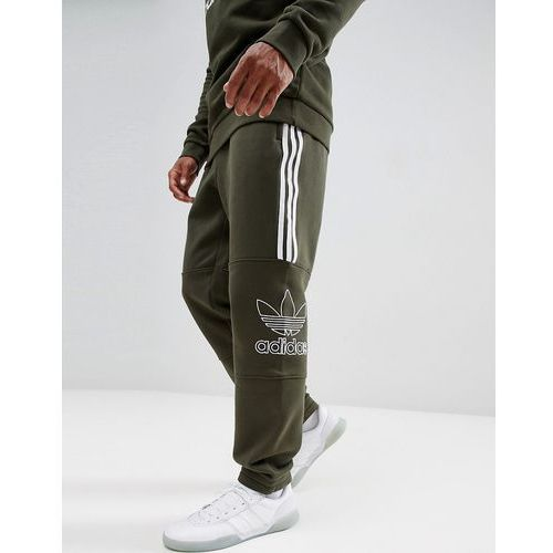 outline jersey joggers in green dh5792 - green marki Adidas originals