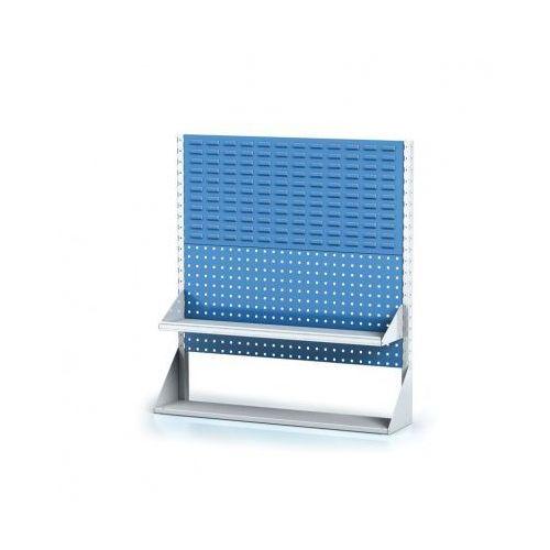 B2b partner Perforowany stojak z panelem na pojemniki, narzędzia i półkę 2 piętra, podstawowe pole