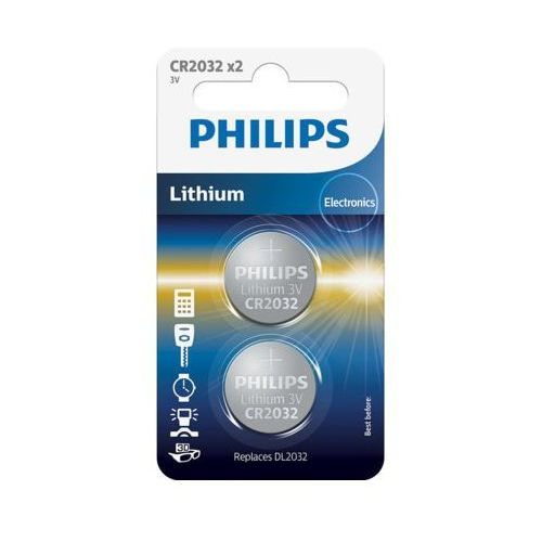 Bateria PHILIPS CR2032 (2 szt.) (8712581652753)