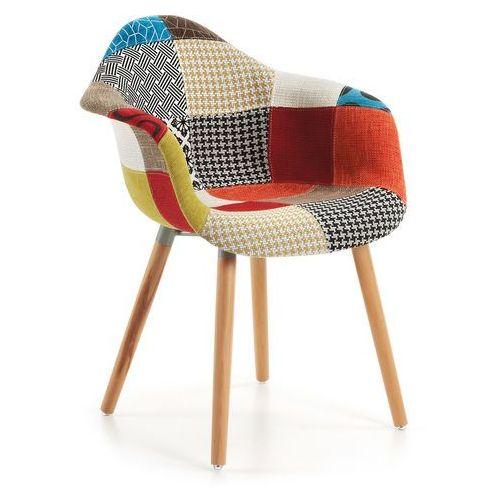 Krzesło TOME z podłokietnikami wielokolorowe - patchwork