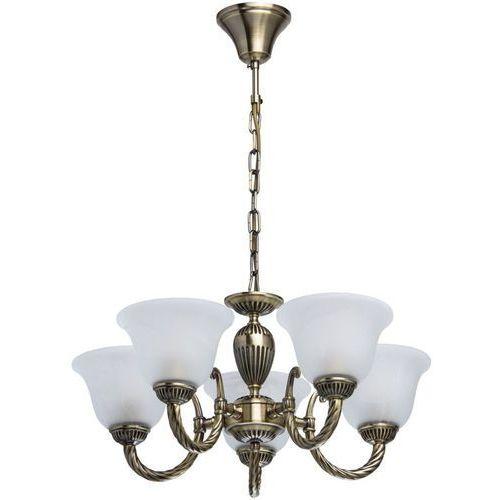 Mw-light Klasyczny żyrandol w kolorze biało-złotym classic białe klosze (450016605)