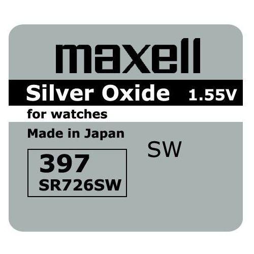 Maxell Bateria srebrowa mini 396 / 397 / sr 726 sw / g2