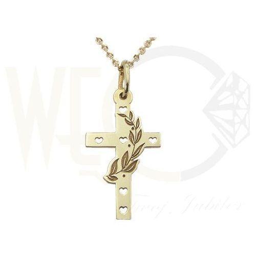 OKAZJA - Medalik z żółtego złota wec-z-med-krzyżyk-1, marki Węc - twój jubiler