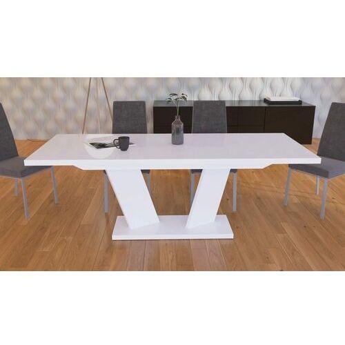 Stół rozkładany 160-210 sommelier biały wysoki połysk marki Mato design