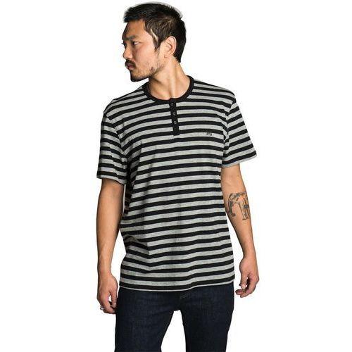 koszulka KREW - Daze Black-Heather Grey Stripe (078) rozmiar: L, kolor czarny