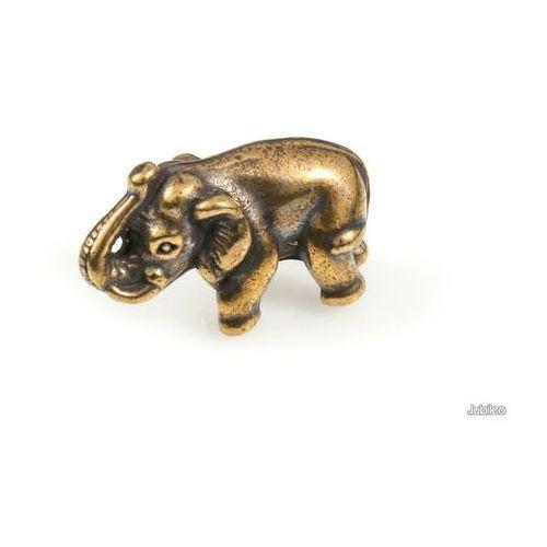 FIGURKA ZŁOTY SŁOŃ NA SZCZĘŚCIE boho japan style słoń kolor stare złoto