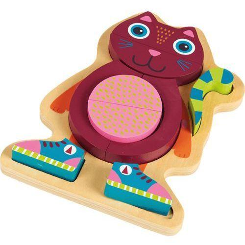 OOPS Happy Puzzle! - Puzzle ze zwierzątkami na planszy 9 szt. Kotka - sprawdź w wybranym sklepie