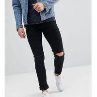 Noak Skinny Jeans In Black With Knee Rips - Black, jeans
