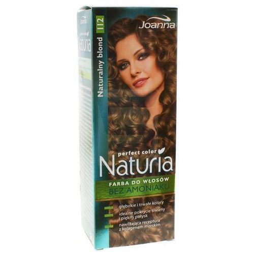 Joanna  naturia perfect color farba do włosów bez amoniaku naturalny blond nr 112 (5901018011598)