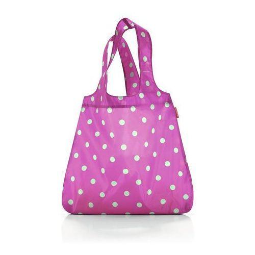 Torba na zakupy mini maxi shopper magenta dots, AT3059