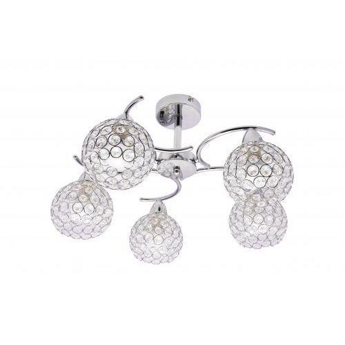 Krislamp sofia kr 310-5pl lampa wisząca zwis 5x40w e14 chrom
