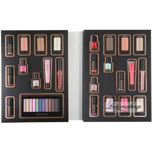 Makeup revolution - makeup advent calendar - zestaw 25 kosmetyków (kalendarz adwentowy). Najniższe ceny, najlepsze promocje w sklepach, opinie.