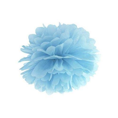 Dekoracja wisząca pompon kwiat - jasnomglistoniebieska - 35 cm - 1 szt. marki Party deco