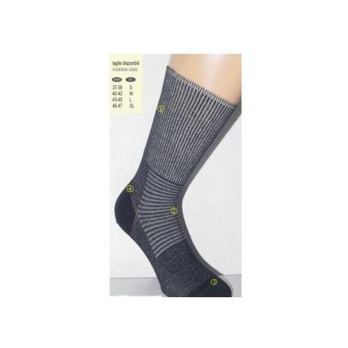 Czsalus (włochy) Skarpety dla diabetyków i na delikatną stopę z nanosrebrem - czsalus