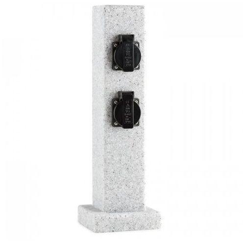 Waldbeck Granite Power rozgałęziacz ogrodowy 4-gniazdkowy kolumna 3500 W PE skała granitowa (4260486156936)